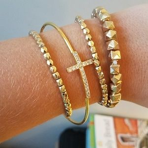 Jewelry - Gold cross bracelet bundle